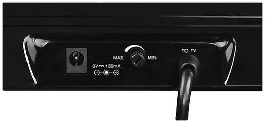 DVB-T-antenne Thomson ANT1403 binnen DAB, DAB+, DVB-T, DVB-T2, VHF, UHF 43 dBZwart