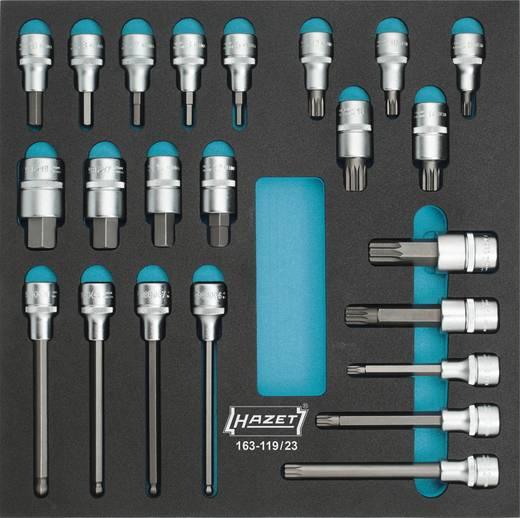 """Hazet 163-119/23 Inbus, Buiten-veeltand (XZN) Dopsleutel-bitinzetset 23-delig 1/2"""" (12.5 mm)"""