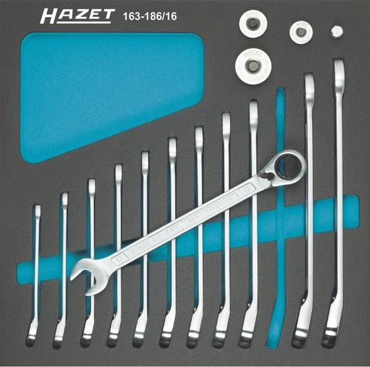 Hazet 163-186/16 Steek-/ratelsleutelset 12-delig 8 - 19 mm