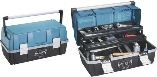 Gereedschapskast leeg Hazet 190L-3 Kunststof Zwart, Blauw, Zilver