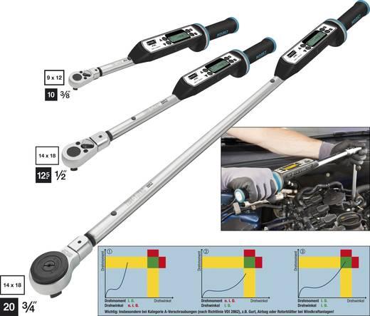 "Hazet System 7000 eTAC Basic 7292-1ETAC Elektronische momentsleutel met omschakelbare ratel 1/2"" (12.5 mm) 20 - 200 Nm"