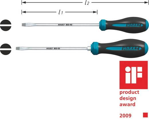 Hazet HEXAnamic Platte schroevendraaier Werkplaats Kopbreedte: 5.5 mm Koplengte: 125 mm DIN ISO 2380-1, DIN ISO 2380-2
