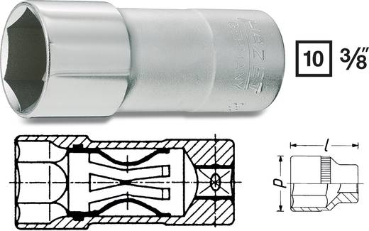 """Hazet 880AKF Inbusdop Bougiesleutelinzet 16 mm 5/8"""" 3/8"""" (10 mm) Afmeting, lengte: 64 mm"""