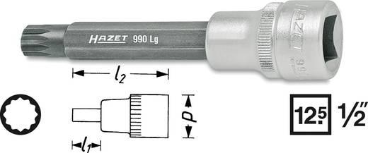 """Hazet 990LG-12 Veeltandig (XZN) Dopsleutel-bitinzet 12 mm 1/2"""" (12.5 mm) Afmeting, lengte: 100 mm"""