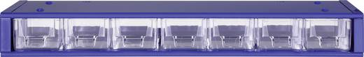 Werkplaatsmagazijnkast (l x b x h) 420 x 150 x 50 mm Aantal vakken: 7 Vaste onderverdeling