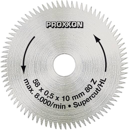 Cirkelzaagblad Ø 58 mm Proxxon Micromot 28 014 Diameter:58 mm Aantal tanden:80