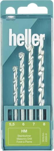 Heller 23324 8 Steen-spiraalboor set 4-delig Cilinderschacht 1 set