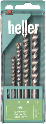 Heller 17744 3 Carbide Steen-spiraalboor set 4-delig 5 mm, 6 mm, 8 mm, 10 mm Cilinderschacht 1 set