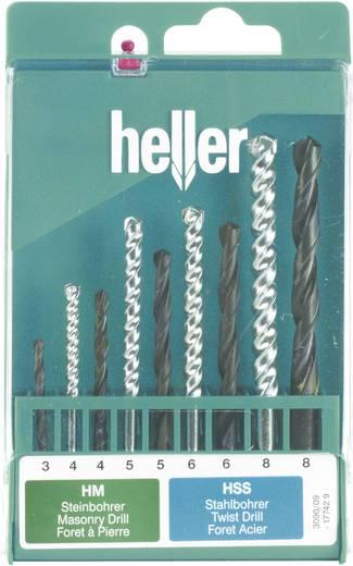 Universeel boor assortiment 9-delig Heller