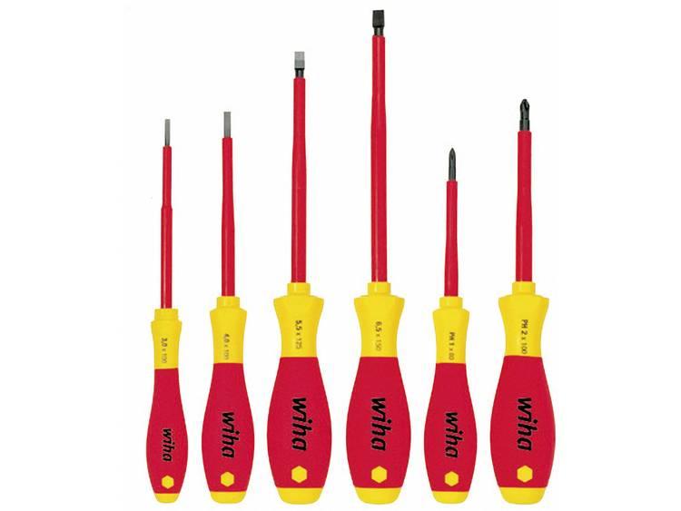 Wiha schroevendraaier SoftFinish electric sleufkop- Phillips-schroevendraaierset, 6-delig 00833