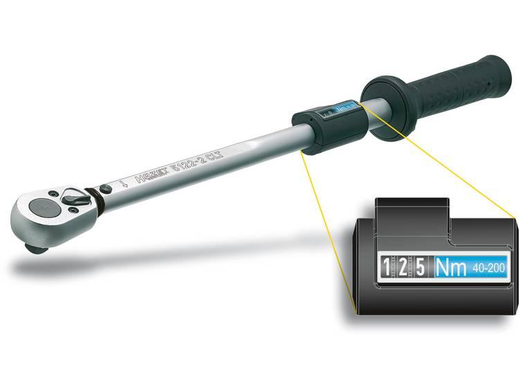 Hazet 5123 2CLT 5123 2CLT Momentsleutel met omschakelbare ratel 1 2 (12.5 mm) 60 320 Nm