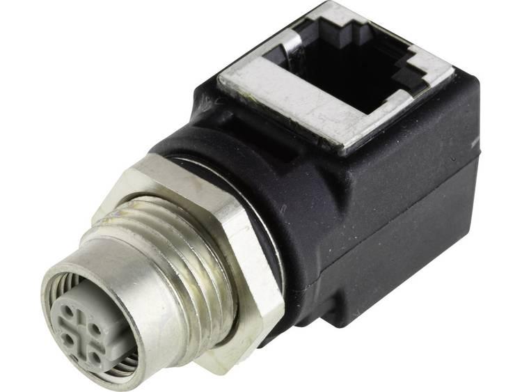 Harting HARAX M12-L Adapter M12 bus RJ45 haaks 1 stuks