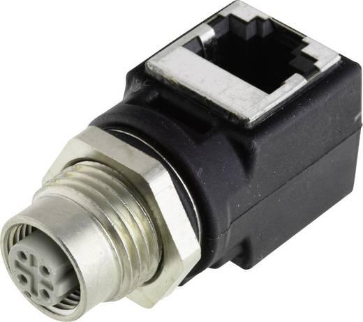 Harting HARAX M12-L Adapter M12 bus - RJ45 haaks Aantal polen: 4 Inhoud: 1 stuks