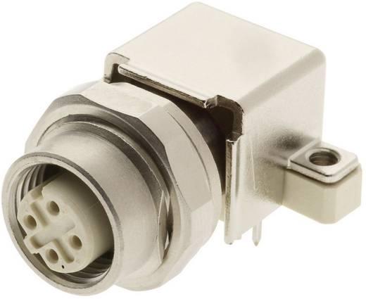 Harting Han® M12 M12 printplaatadapter, haaks Aantal polen: 4 Inhoud: 1 stuks