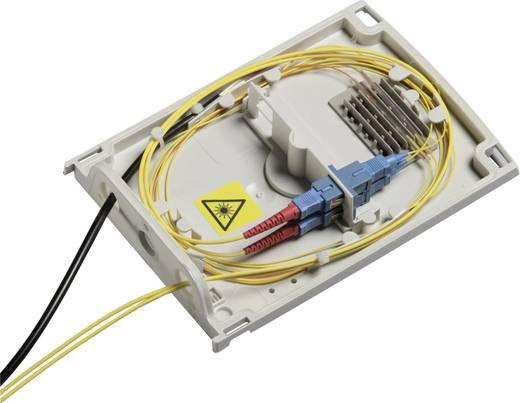 Glasvezelbehuizing 130 x 190 x 45 Polycarbonaat Lichtgrijs (RAL 7035) Fibox FTB-A 1 stuks