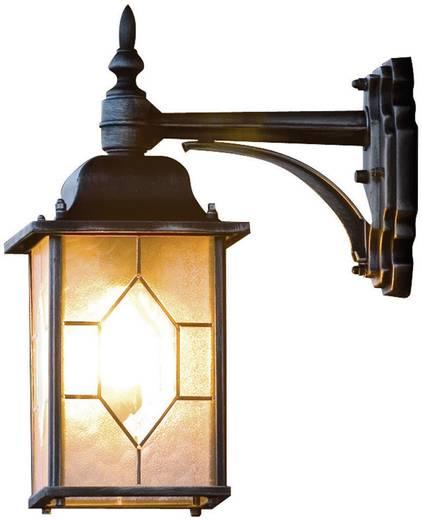 Buitenwandlamp E27 75 W Konstsmide Milano 7248-759 Zwart, Zilver