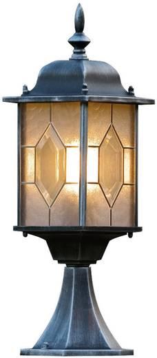 Staande buitenlamp Spaarlamp E27 75 W Konstsmide Milano 7246-759 Zwart/zilver