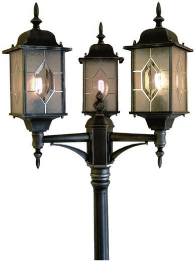 Staande buitenlamp Spaarlamp E27 75 W Konstsmide Milano 7244-759 Zwart/zilver