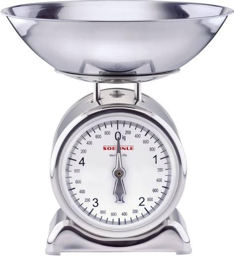 Soehnle Analoge Keukenweegschaal Silvia roestvrij staal 65003