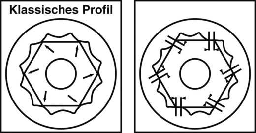 Ring-steeksleutel 22 mm DIN 3113 Form A Walter Werkzeuge RING-MAULSCHLÜSSEL 280 CS 22 5172