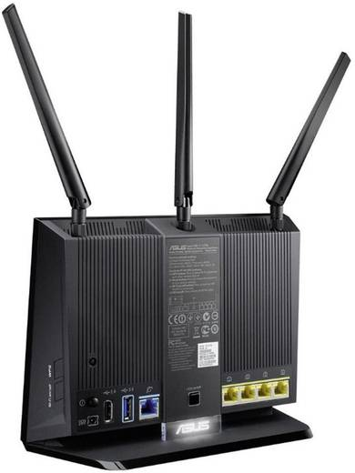 Asus RT-AC68U WiFi router 2.4 GHz, 5 GHz 1.9 Gbit/s