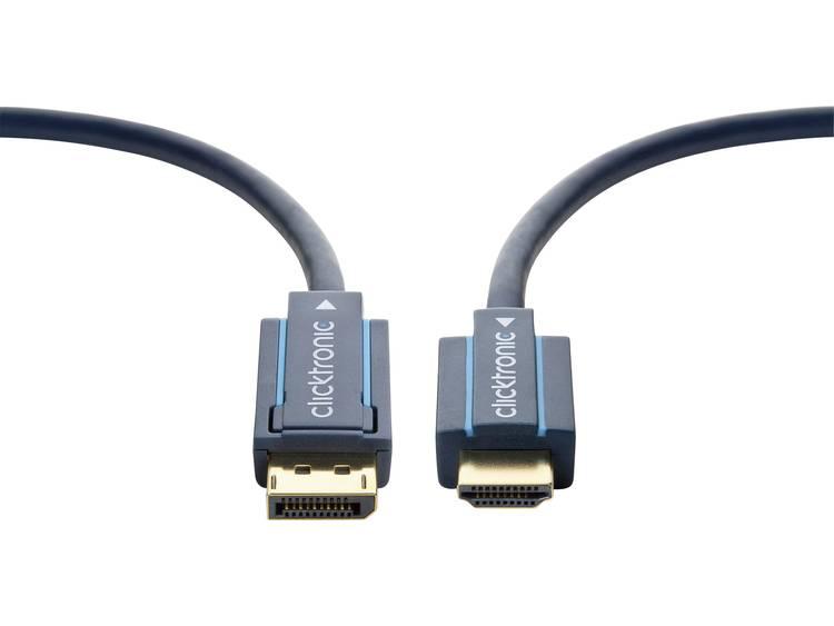 DisplayPort / HDMI Kabel clicktronic [1x DisplayPort stekker - 1x HDMI-stekker] 2 m Blauw