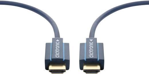 HDMI Aansluitkabel clicktronic [1x HDMI-stekker - 1x HDMI-stekker] 30 m Blauw