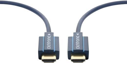 clicktronic HDMI Aansluitkabel [1x HDMI-stekker - 1x HDMI-stekker] 40 m Blauw