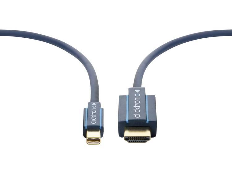 DisplayPort / HDMI Kabel clicktronic [1x Mini-DisplayPort stekker - 1x HDMI-stekker] 2 m Blauw