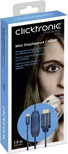clicktronic DisplayPort / HDMI Aansluitkabel [1x Mini-DisplayPort stekker - 1x HDMI-stekker] 2 m Blauw