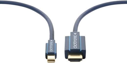clicktronic DisplayPort / HDMI Aansluitkabel [1x Mini-DisplayPort stekker - 1x HDMI-stekker] 3 m Blauw