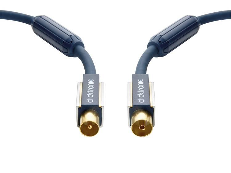 clicktronic Antenne Kabel [1x Antennestekker 75 ⦠- 1x Antennebus 75 â¦] 20 m 120 dB Vergulde steekcontacten, Met Ferrietkern Blauw