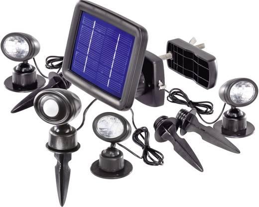 Solarspot met bewegingsmelder Koud-wit Renkforce SR302-K Zwart