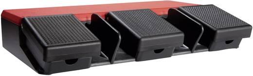 ASA Schalttechnik FS3 U1/U1/U1 Voetschakelaar 500 V/AC 10 A 3 pedalen 1x NO, 1x NC IP65 1 stuks