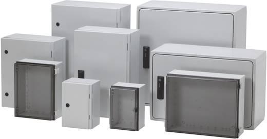 Wandbehuizing, Installatiebehuizing 150 x 150 x 110 Polycarbonaat Lichtgrijs (RAL 7035) Fibox CAB PC 151511 T 1 stuks