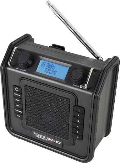 FM Bouwradio PerfectPro ROCKSOLID-bouwplaatsradio AUX, FM Spatwaterbestendig, Stofdicht, Stofvast Zwart