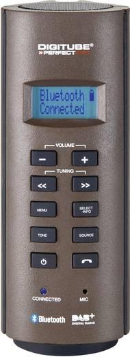 DAB+ Bouwradio PerfectPro DIGITUBE BOUWPLAATSRADIO AUX, Bluetooth, DAB+, FM Accu laadfunctie, Handsfreefunctie, Spatwaterbestendig, Stofdicht, Herlaadbaar Bruin