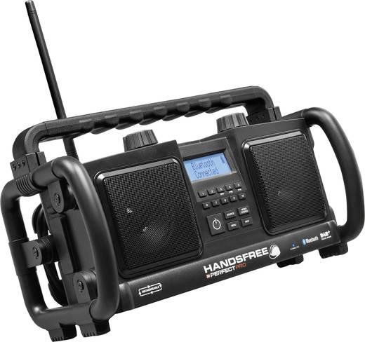 DAB+ Bouwradio PerfectPro Handsfree AUX, Bluetooth, DAB+, FM Accu laadfunctie, Handsfreefunctie, Stofdicht, Spatwaterbes