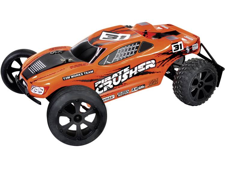T2M Pirate Crusher Brushed 1:10 RC auto Elektro Truggy 2WD RTR 2.4 GHz