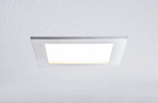 Premium EBL Set Panel IP44 hoekig LED 1x11W 230V aluminium geb. /SAT aluminium/kunst.