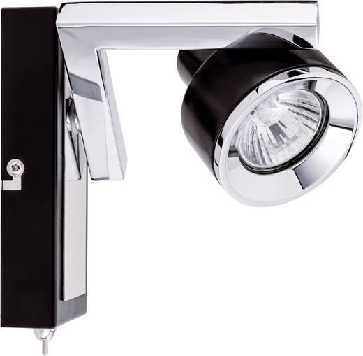 Spot Turn balk 1x 40 W GU10 zwart chroom 230 V metaal