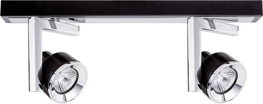 Spot Turn balk 2x 40 W GU10 zwart chroom 230 V metaal