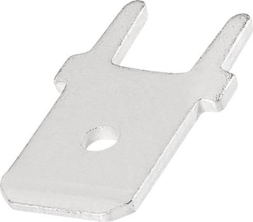 TE Connectivity 726386-2 Plug-tong Voor solderen in gedrukte bedrading Insteekbreedte: 6.3 mm Insteekdikte: 0.8 mm 180 ° Ongeïsoleerd Metaal 1 stuks