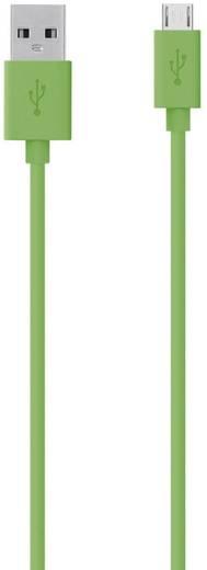 Belkin USB 2.0 Aansluitkabel [1x USB 2.0 stekker A - 1x USB 2.0 stekker micro-B] 2 m Groen