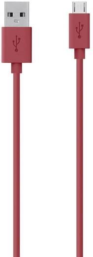 Belkin Aansluitkabel [1x USB 2.0 stekker A - 1x USB 2.0 stekker micro-B] 2 m Rood
