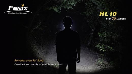 Fenix HL10 LED Hoofdlamp Zwart, Oranje Werkt op batterijen