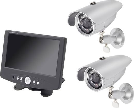 Renkforce 808577 DVR Bewakingsset Analoog 2-kanaals Met 2 camera's