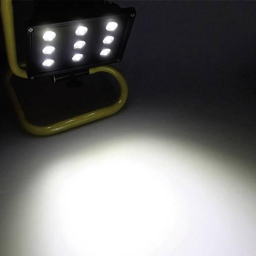 Bouwschijnwerper 2000 led accu bouwlamp 2000 2,5 W SMD LED Geel-zwart