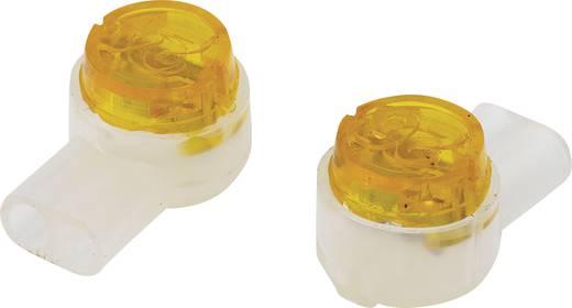 Conrad Components 93014c942 Aderverbinder Flexibel: 0.13-0.65 mm² Massief: 0.13-0.65 mm² Aantal polen: 2 100 stuks Geel