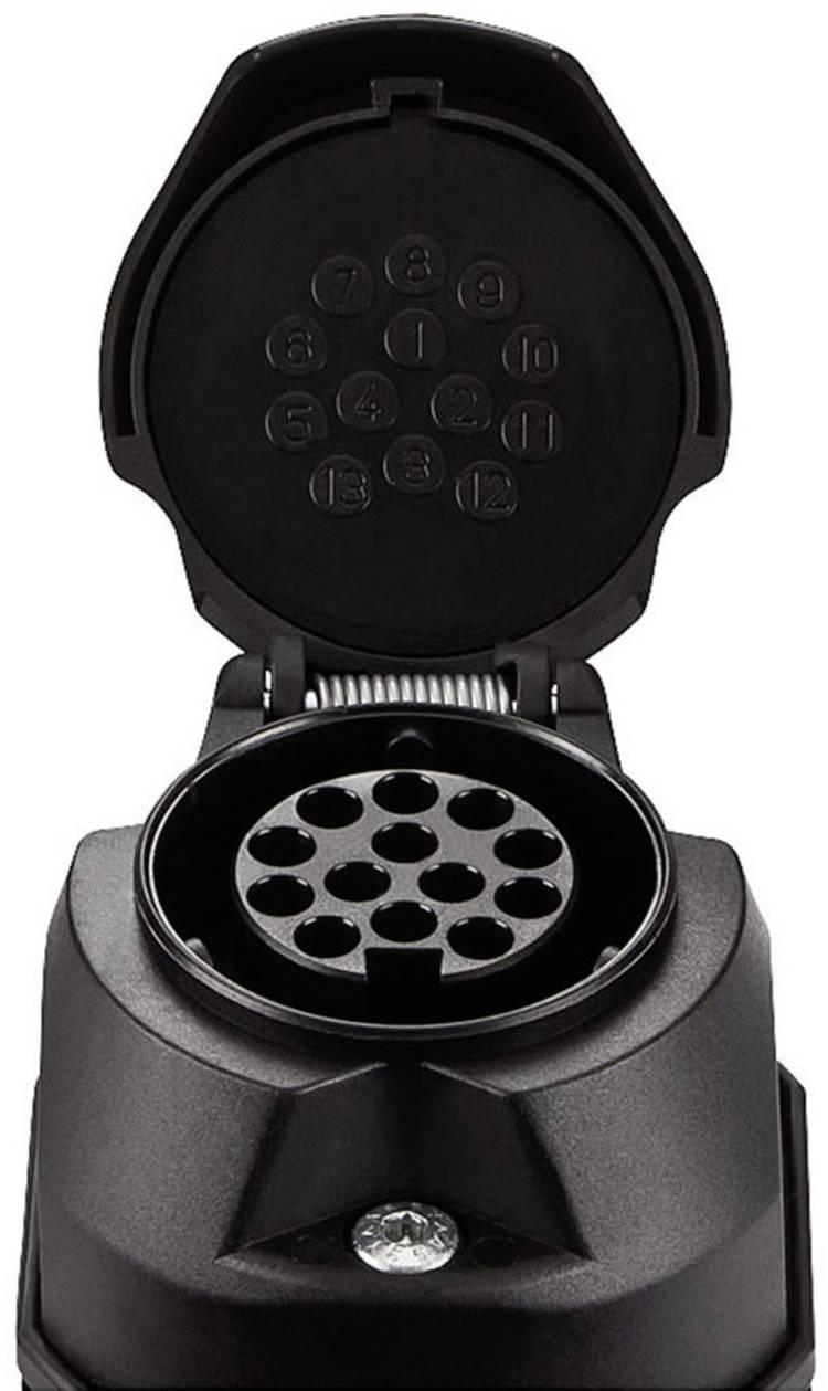 Image of Aanhangerstopcontact [Stekkerdoos, 13-polig - Stekker, 13-polig] SecoRut 30130 ABS kunststof